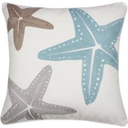 Starfish Print Decorative Pillow