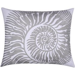 Saltwater Home Embroidered Nautilus Decorative Pillow