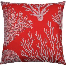 Saltwater Home Embroidered Coral Reef Decorative Pillow