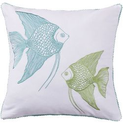 Saltwater Home Bethany Beach Fish Decorative Pillow