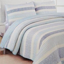 Estate Collection Delray Stripe Quilt Set