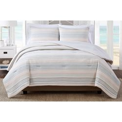 Oceanfront Resort Striped Yarn Dye Jacquard Comforter Set