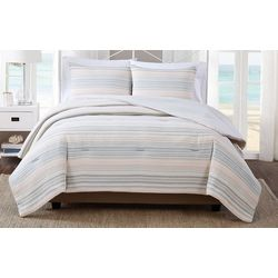 Striped Yarn Dye Jacquard Comforter Set