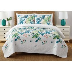 Oceanfront Resort Tropical Paradise Quilt Set