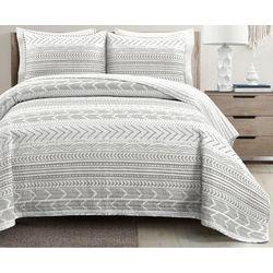 Lush Home Geometric Stripe Quilt Set