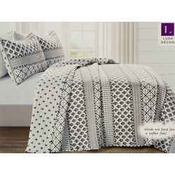 Lush Home Monique Stripe Quilt Set