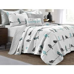 Lush Home Rowley Bird Quilt Set