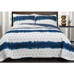 Triangle Home Fashions Jane Shibori Quilt Set