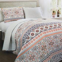 Lush Home Nesco Stripe Quilt Set