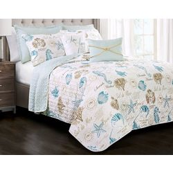 Triangle Home Fashions Harbor Life Quilt Set