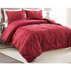 Lush Home Reversible Pintuck Comforter Set