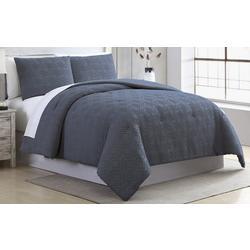 Diamond Fringe Comforter Set