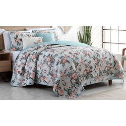 Gloria Vanderbilt Hibiscus Cay Quilt Set