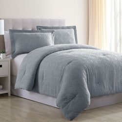 Cotton Clipped Jacquard Comforter Set