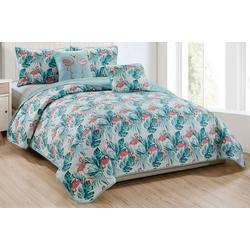 Fancy Flamingo Quilt Set