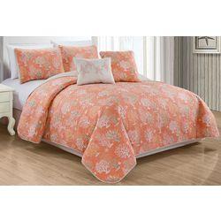 Fan Coral Quilt Set
