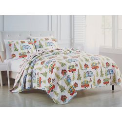 Brighten the Season Country Christmas Camper Quilt Set