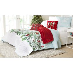 Holly Berries Quilt Set