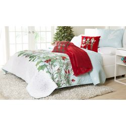 Brighten the Season Holly Berries Quilt Set