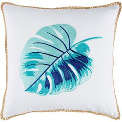 Red Pineapple Rio Palm Selena Palm Leaf Decorative Pillow