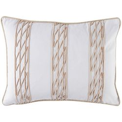 Coastal Home Sailor's Coast Net Stripe Decorative Pillow