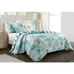 Coastal Home Breezy Blue Quilt Set