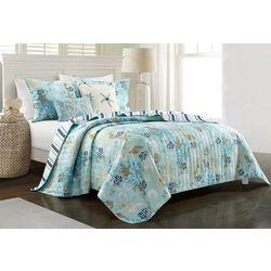 Coastal Home Breezy Blue Quilt Set