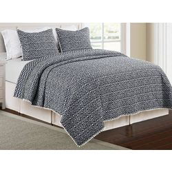 Elise & James Home Didi Navy Microfiber Quilt