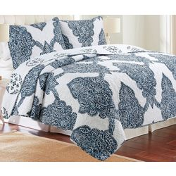 Elise & James Home Batik Microfiber Quilt Set