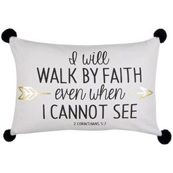Walk By Faith Decorative Pillow