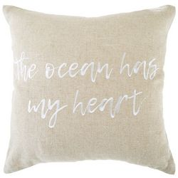 Coastal Home The Ocean Has My Heart Decorative Pillow