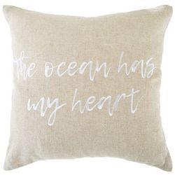 The Ocean Has My Heart Decorative Pillow