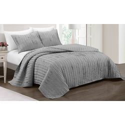 Rylie Frayed Ruffle Quilt Set