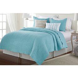 Aqua Haze Crinkle Quilt Set