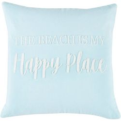 Red Pineapple Aqua Sealife Happy Place Decorative Pillow