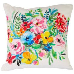 Red Pineapple Watercolor Floral Decorative Pillow