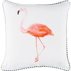 Red Pineapple Flamingo Island Decorative Pillow