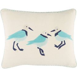 Coastal Home Jasmine Script Winonia Birds Decorative Pillow