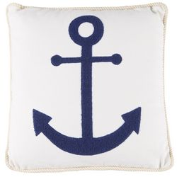 Tackle & Tides Anchor Embroidered Decorative Pillow