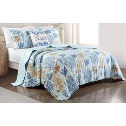 Coastal Home Delta Stripe Quilt Set