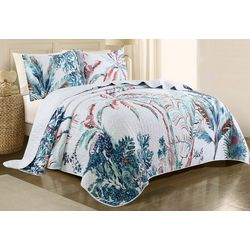 Red Pineapple Jungle Beat Quilt Set