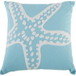 Embroidered Starfish Tufted Decorative Pillow