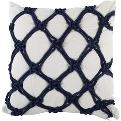 Embroidered Twisted Rope Decorative Pillow