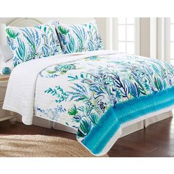 Coastal Home Turtle Reef Quilt Set