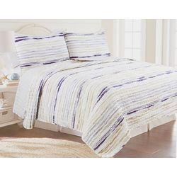 Coastal Home Ocean Stripe Quilt Set