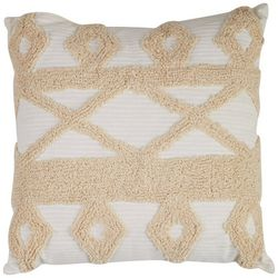 Coastal Home Diamond Cross Tufted Decorative Pillow