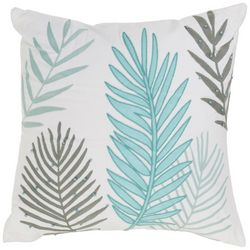 Red Pineapple Palm Leaf Embroidered Decorative Pillow