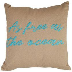 Coastal Home As Free As The Ocean Decorative