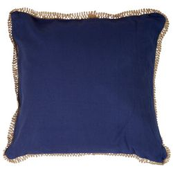 Red Pineapple Verona Solid Jute Decorative Pillow