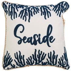 Coastal Home Seaside Reef Embroidered Decorative Pillow